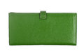 Green leather wallet Royalty Free Stock Photo