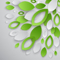 Green leaves abstract background vector illustration Stock Photo