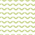 Green leaves chevron seamless pattern background vector with hand drawn elements Royalty Free Stock Photo