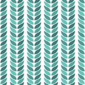 Green leaves geometric lie exactly on a light background Royalty Free Stock Photo
