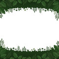 Green leaves and plants frame on white background editable vector illustration Royalty Free Stock Photos