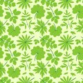 Green leaves seamless pattern summer background Royalty Free Stock Photo