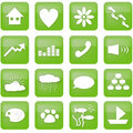 Green lifestyle buttons Royalty Free Stock Photo