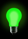 Green light bulb. Stock Photography