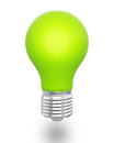 Green light bulb white background ecology concept Royalty Free Stock Photography