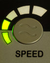 A green light speed button Royalty Free Stock Photos