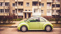 Green little car Royalty Free Stock Photo