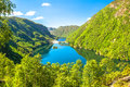 Green Fjords of Norway Royalty Free Stock Photo