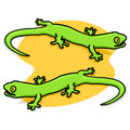 Green Lizards illustration Royalty Free Stock Image