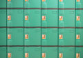 Green Lockers Royalty Free Stock Photo