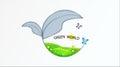 Green logo vector logo design template.