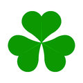 Green Lucky Four Leaf Irish Clover for St. Patricks Day vector illustration