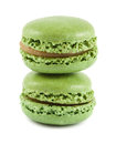 Green macaroons Stock Photo