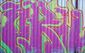 Green-magenta graffity Royalty Free Stock Photo