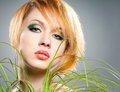 Green make-up Stock Photography