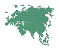 Green map of eurasia abstract vector illustration Stock Photo