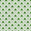 Green Marijuana Leaf Pattern R...