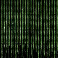 Green Matrix Abstract background, program binary code Royalty Free Stock Photo