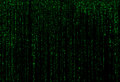 Green matrix background computer generated Royalty Free Stock Photography