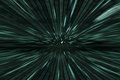 Green matrix background with speed motion, radial blur Royalty Free Stock Photo