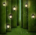 Green maze Royalty Free Stock Photo