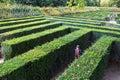 Green maze of Schloss Schonbrunn palace garden Royalty Free Stock Photo
