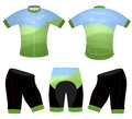 Green meadows on sports t-shirt