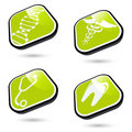 Green Medical Icons Royalty Free Stock Photo