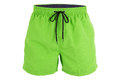 Green men shorts for swimming Royalty Free Stock Photo