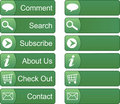 Green Menu Buttons Royalty Free Stock Image