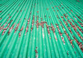 Green metal sheet. Royalty Free Stock Photo