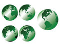 Green metallic earth Stock Photography