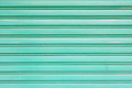 Green metallic roller shutter door for wallpaper