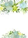 Green mix of hydrangea, succulents, echeveria, eucalyptus, wildf