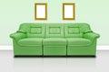Green modern sofa Royalty Free Stock Photo