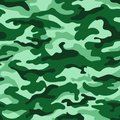 Green monochrome camouflage seamless pattern. Vector