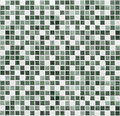 Green mosaic bathroom, kitchen or toilet tile wall background Royalty Free Stock Photo