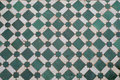 Green mosaic floor Royalty Free Stock Images
