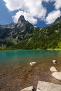 Green mountain lake high tatras slovakia europe Stock Photos