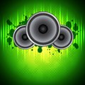 Green music background Royalty Free Stock Image