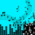 Green music background shows playing song or pop showing Royalty Free Stock Photography
