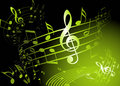 Green music theme