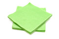 Green napkins isolated on a white background Royalty Free Stock Photo