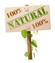 Green natural and bio sign Royalty Free Stock Photos