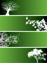 Green nature banners Royalty Free Stock Photography