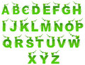Green Nature English Alphabets Vector Royalty Free Stock Photos