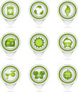 Green nature pointers vector illustration of separate layers for easy editing Royalty Free Stock Photos