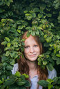 Green Nature Portrait of a Woman Royalty Free Stock Photo