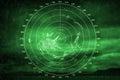 Green navigation system screen with radar image illuminated Stock Photos