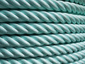 Green Nylon rope Stock Photos